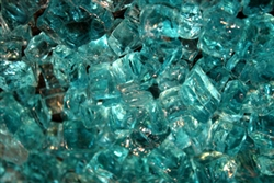 Light Blue green fire glass
