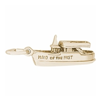 Rembrandt Maid Of The Mist Charm, Gold Plated Silver