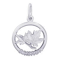 Rembrandt Canada Maple Leaf Charm, Sterling Silver