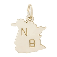 Rembrandt New Brunswick Charm, Gold Plated Silver