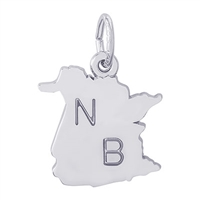 Rembrandt New Brunswick Charm, Sterling Silver
