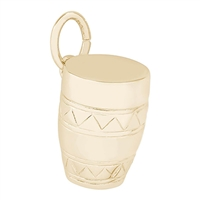 Rembrandt Bongo Drum Charm, Gold Plated Silver