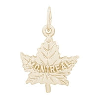 Rembrandt Montreal Charm, Gold Plated Silver
