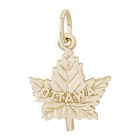 Rembrandt Ottawa Charm, Gold Plated Silver