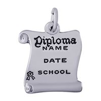 Rembrandt Diploma Charm, Sterling Silver