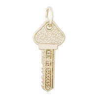 Rembrandt Key To Success Charm, Gold Plated Silver