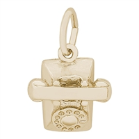 Rembrandt Telephone Charm, Gold Plated Silver