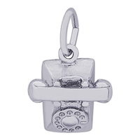 Rembrandt Telephone Charm, Sterling Silver