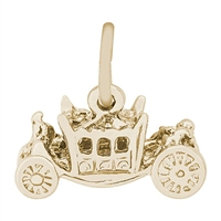 Rembrandt Royal Carriage Charm, Gold Plated Silver