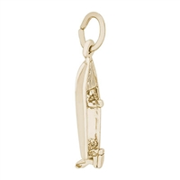 Rembrandt Boat Charm, Gold Plated Silver