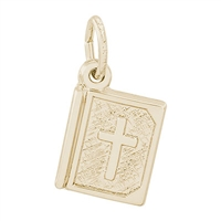 Rembrandt Bible Charm, Gold Plated Silver