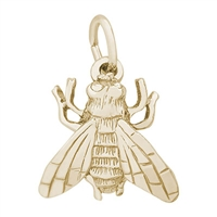 Rembrandt Fly Charm, Gold Plated Silver