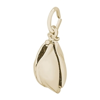 Rembrandt Fortune Cookie Charm, Gold Plated Silver