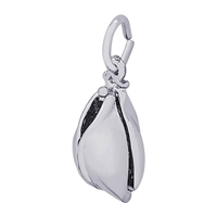Rembrandt Fortune Cookie Charm, Sterling Silver