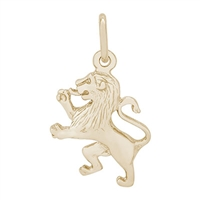 Rembrandt Lion Charm, Gold Plated Silver