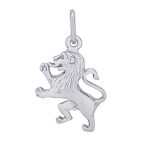 Rembrandt Lion Charm, Sterling Silver