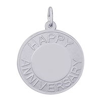 Rembrandt Anniversary Charm, Sterling Silver