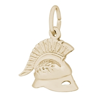 Rembrandt Roman Helmet Charm, Gold Plated Silver