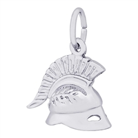 Rembrandt Roman Helmet Charm, Sterling Silver