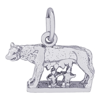 Rembrandt Romulus & Remus Charm, Sterling Silver