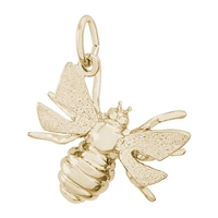 Rembrandt Bee Charm, Gold Plated Silver