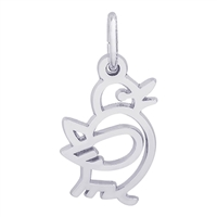 Rembrandt Bird Charm, Sterling Silver