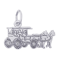 Rembrandt Horse & Carriage Charm, Sterling Silver