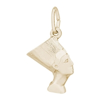 Rembrandt Nefertiti Charm, 10K Yellow Gold