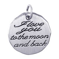 Rembrandt I Love You To The Moon Charm, Sterling Silver