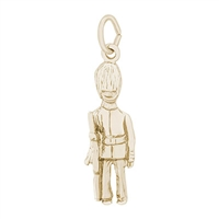 Rembrandt British Guard Charm, Gold Plated Silver