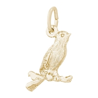 Rembrandt Canary Charm, Gold Plated Silver