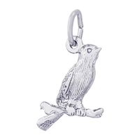 Rembrandt Canary Charm, Sterling Silver