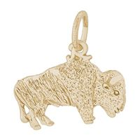 Rembrandt Buffalo Charm, Gold Plated Silver