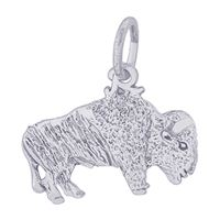 Rembrandt Buffalo Charm, Sterling Silver