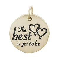 Rembrandt The Best Is Yet To Be Charm Tag Charm, Gold Plated Silver