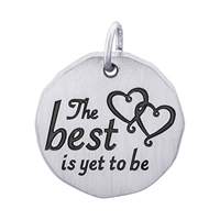 Rembrandt The Best Is Yet To Be Charm Tag Charm, Sterling Silver