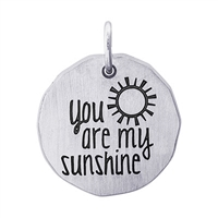 Rembrandt You Are My Sunshine Charm Tag Charm, Sterling Silver