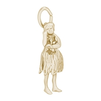 Rembrandt Hula Dancer Charm, Gold Plated Silver