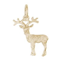 Rembrandt Reindeer Charm, Gold Plated Silver