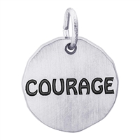 Rembrandt Courage Charm Tag, Sterling Silver