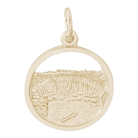 Rembrandt Niagara Falls Charm, Gold Plated Silver