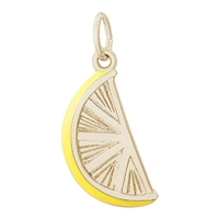Rembrandt Lemon Slice Charm, Gold Plated Silver
