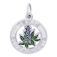 Rembrandt Texas BlueBonnets Charm, Sterling Silver
