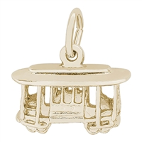 Rembrandt Cable Car Charm, Gold Plated Silver