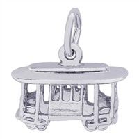 Rembrandt Cable Car Charm, Sterling Silver