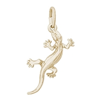 Rembrandt Lizard Charm, Gold Plated Silver