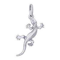 Rembrandt Lizard Charm, Sterling Silver