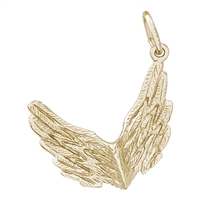 Rembrandt Spread Your Wings Charm, Gold Plated Silver
