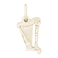 Rembrandt Harp Charm, Gold Plated Silver
