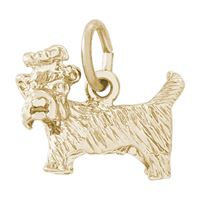 Rembrandt Yorkshire Dog Charm, Gold Plated Silver
